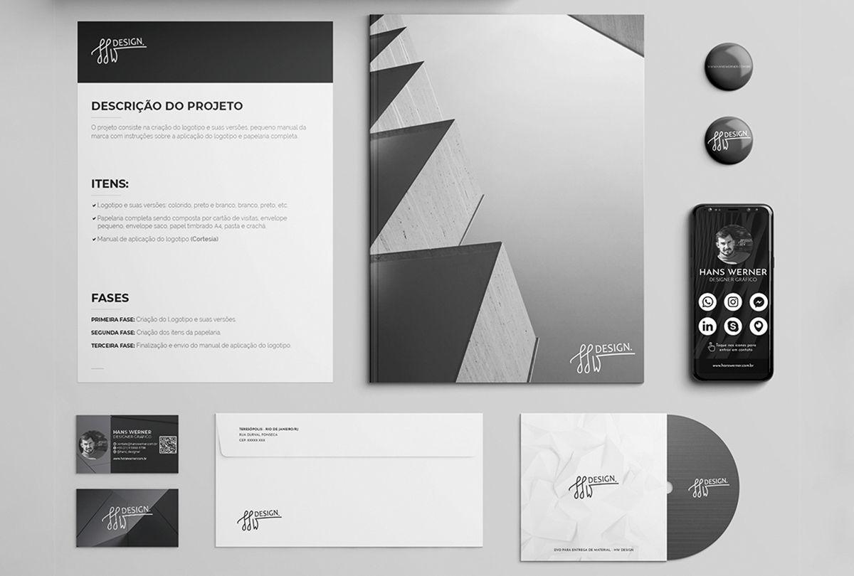 Design papelaria itens designer gráfico timbrado pasta cd cartão de visita impressos flyer folder crachá