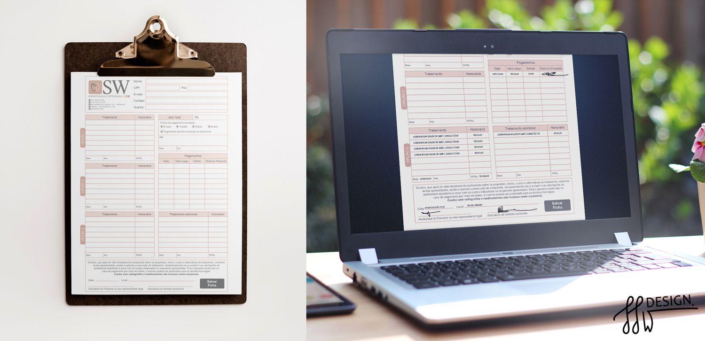 Designer gráfico documentos fichas e orçamentos design