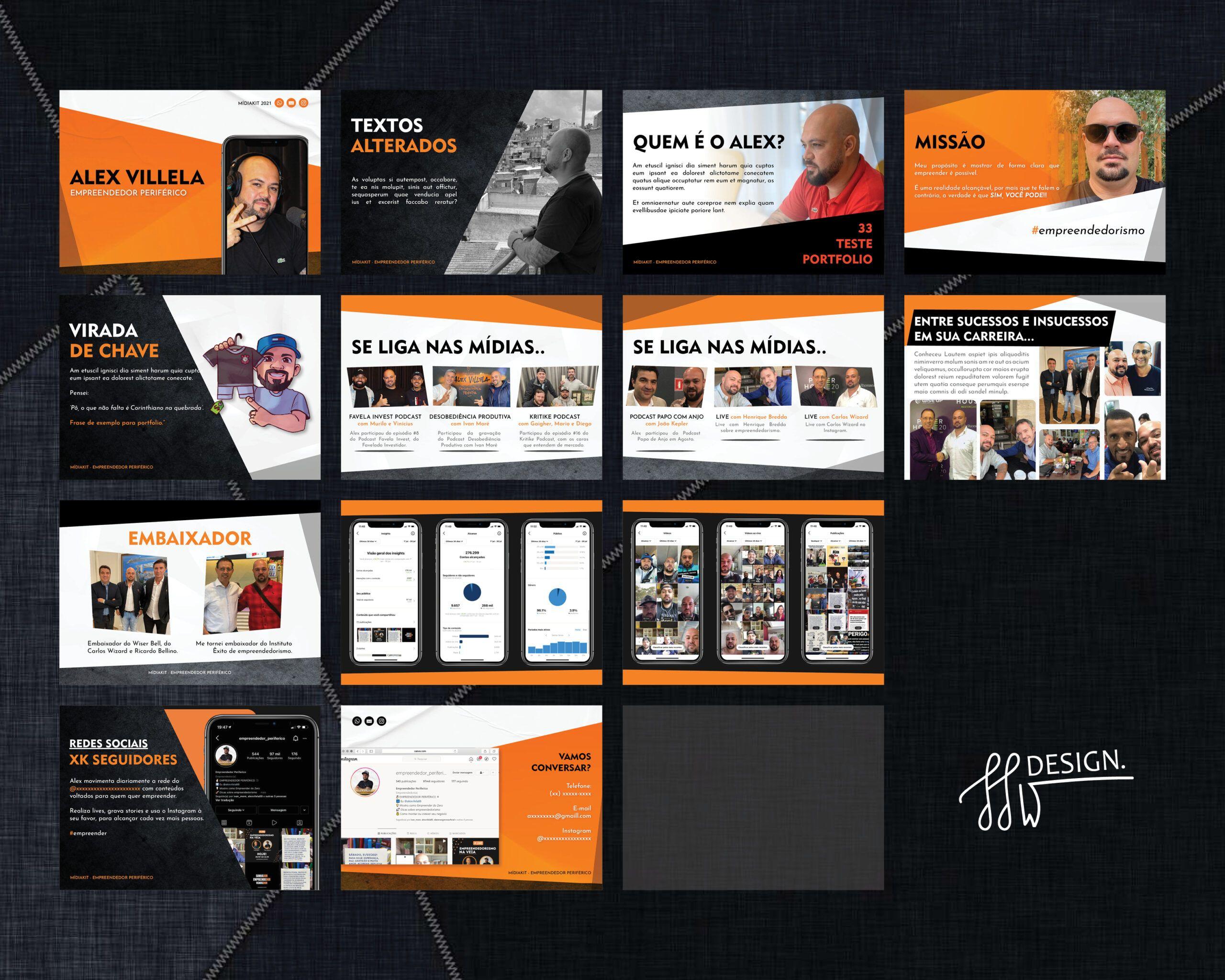Designer de Midiakit em PDF influencer digital instagram rj sp