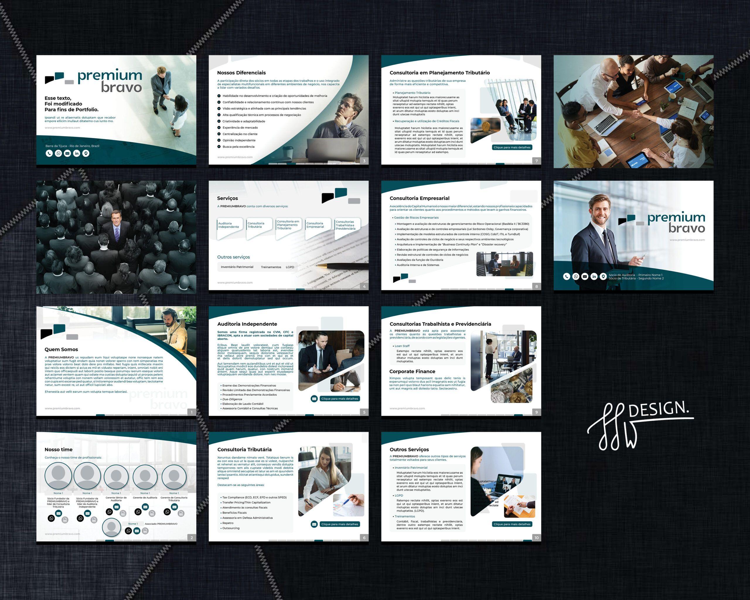 Designer de Apresentações em PDF empresariais Design